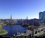 Boston Webcam - Leonard P. Zakim Bunker Hill Memorial Bridge